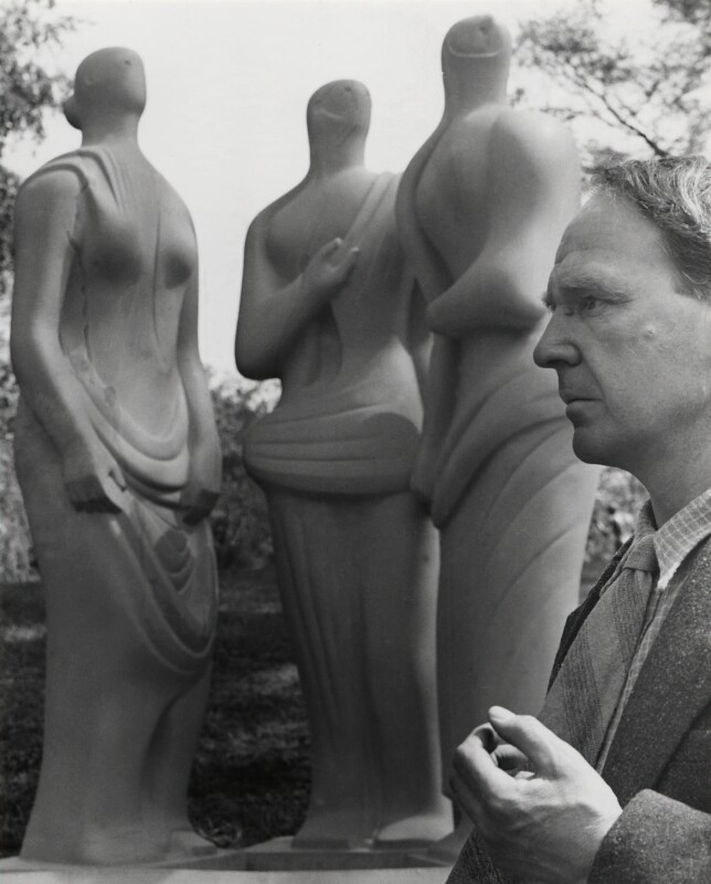 Henry Moore, by Norman Parkinson, 1947 - NPG x30048 - © Norman Parkinson Archive