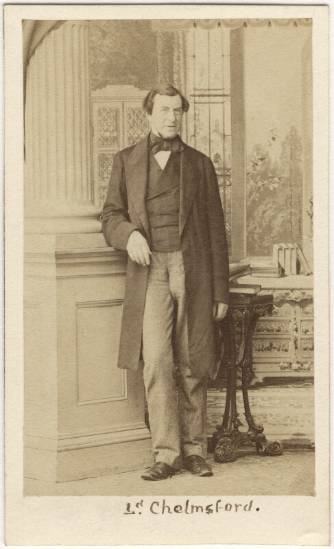 Frederick Thesiger, 1st Baron Chelmsford, by Caldesi, Blanford & Co, early 1860s - NPG Ax5095 - © National Portrait Gallery, London