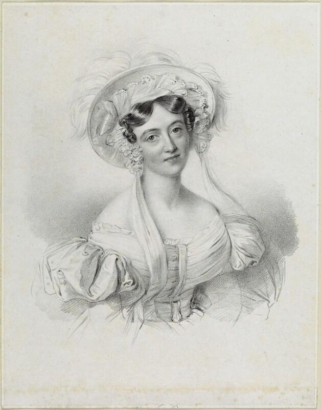 Lucy Anderson (née Philpot), by Richard James Lane, after  Johannes Notz, published 1835 - NPG D21900 - © National Portrait Gallery, London