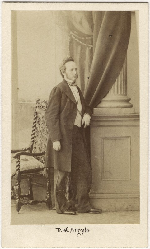 George Douglas Campbell, 8th Duke of Argyll, by Caldesi, Blanford & Co, early 1860s - NPG Ax5054 - © National Portrait Gallery, London