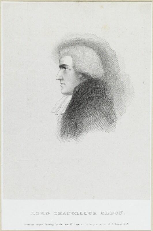 John Scott, 1st Earl of Eldon, by Richard James Lane, after  James Sayers, circa 1825-1850 - NPG D21907 - © National Portrait Gallery, London