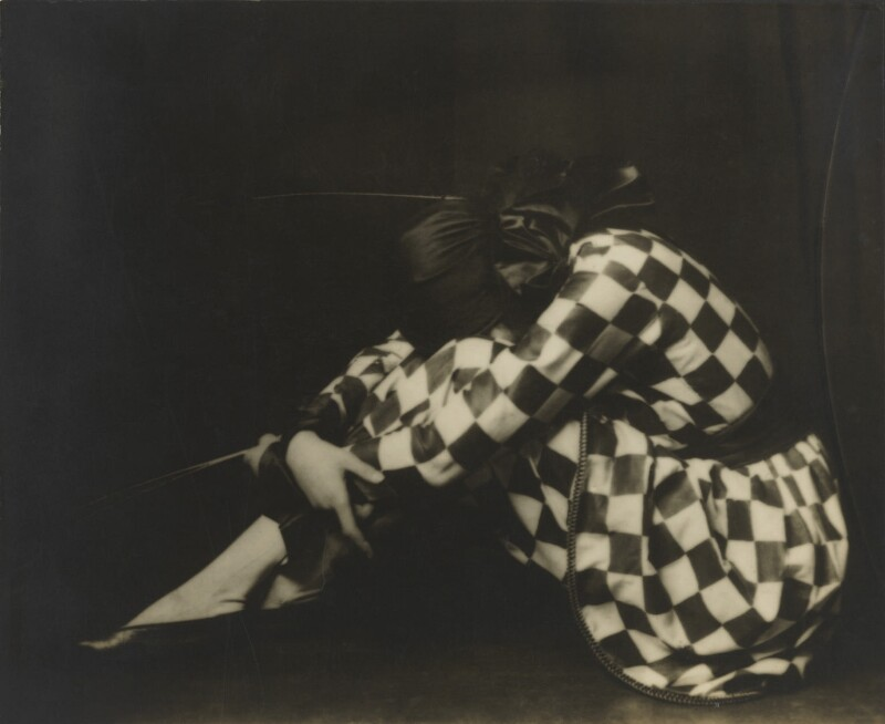 Madame Yevonde as Harlequin, by Madame Yevonde, 1925 - NPG x11823 - © Yevonde Portrait Archive
