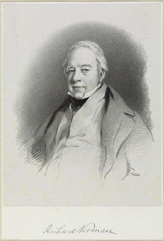 Richard Normen, by Richard James Lane, circa 1825-1850 - NPG D21917 - © National Portrait Gallery, London