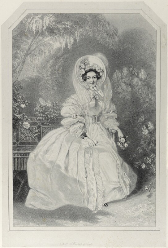 Princess Victoria, Duchess of Kent and Strathearn, by Richard James Lane, after  Alfred Edward Chalon, published 1838 - NPG D21980 - © National Portrait Gallery, London