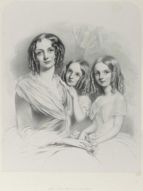 Anna Constantia (née Beresford), Lady Thynne; Selina Thynne; Emily Thynne, by Richard James Lane, 1850 - NPG D21996 - © National Portrait Gallery, London