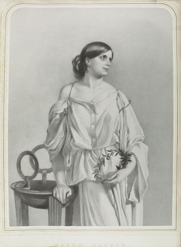 Helen Faucit (Helena (née Faucit Saville), Lady Martin), by Richard James Lane, after  Sir Frederic William Burton, published 1857 - NPG D22004 - © National Portrait Gallery, London