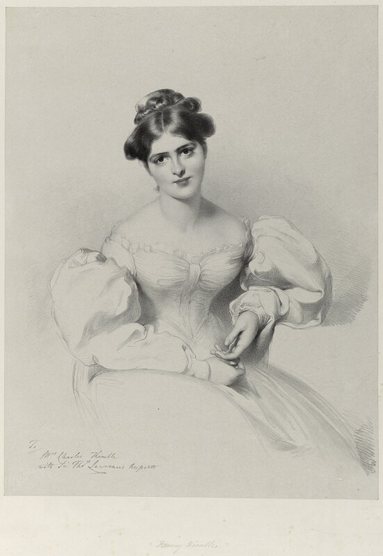 Fanny Kemble, by Richard James Lane, after  Sir Thomas Lawrence, published 1829-1830 - NPG D22010 - © National Portrait Gallery, London