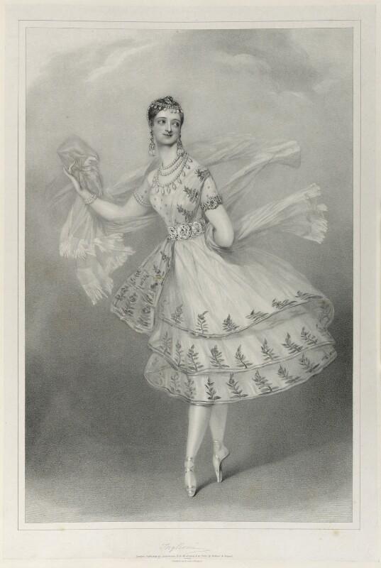Marie Taglioni, by Richard James Lane, printed by  Graf & Soret, published by  Rudolph Ackermann Jr, circa 1825-1850 - NPG D22015 - © National Portrait Gallery, London