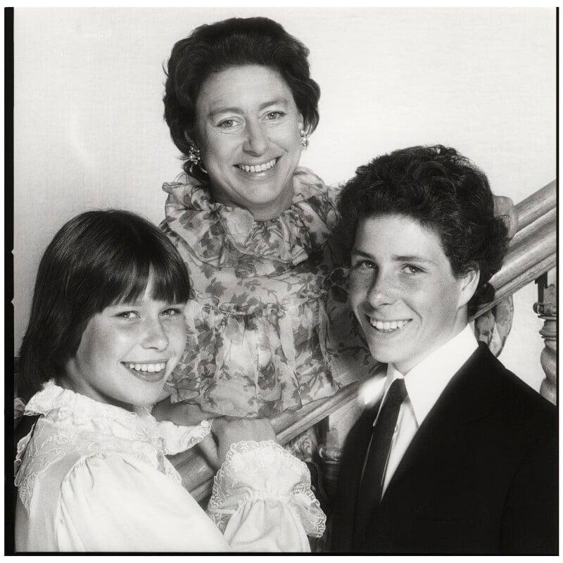 Princess Margaret with her children, by Norman Parkinson, 1970s - NPG x126927 - © Norman Parkinson Archive