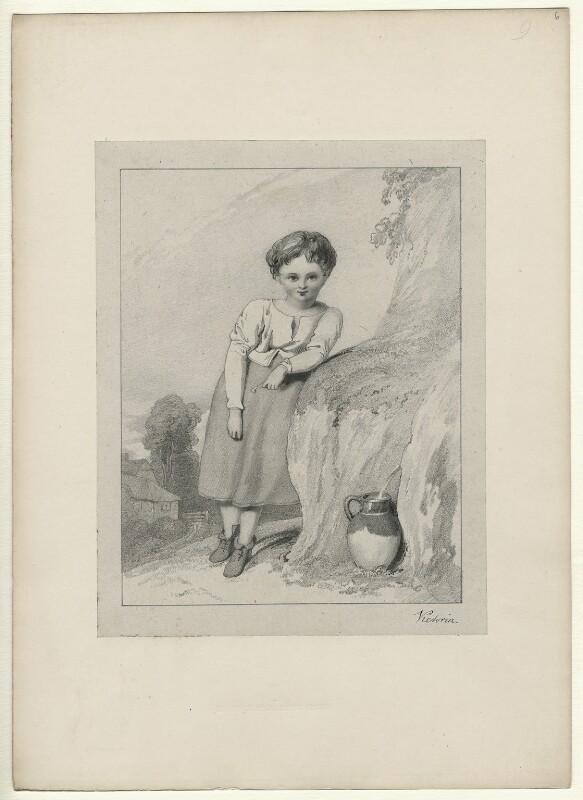 Unknown child, by Richard James Lane, after  Queen Victoria, circa 1825-1850 - NPG D22027 - © National Portrait Gallery, London