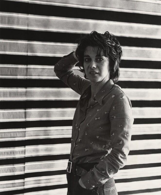 Bridget Riley, by (John) Edward McKenzie Lucie-Smith, circa 1970 - NPG x22053 - © Edward Lucie-Smith / National Portrait Gallery, London