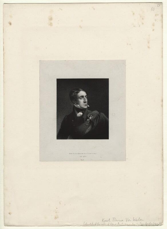 Karl Maria Friedrich Ernst von Weber, by Richard James Lane, October 1826 - NPG D22059 - © National Portrait Gallery, London