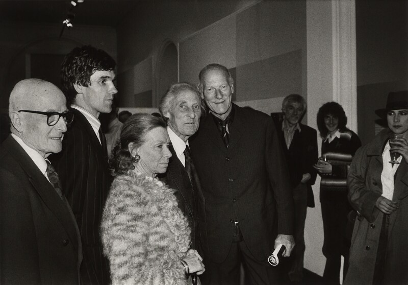 Group at the private view for 'Bill Brandt: Portraits', by Chris Taylor, 6 May 1982 - NPG x126892 - © Chris Taylor