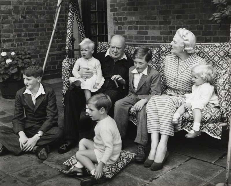 The Churchill family, by Vivienne, September 1951 - NPG x45179 - © reserved; collection National Portrait Gallery, London