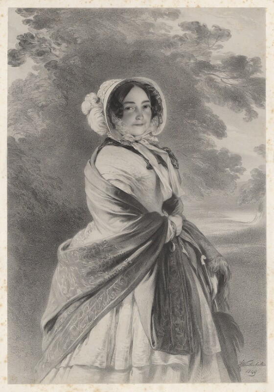 Princess Victoria, Duchess of Kent and Strathearn, by Richard James Lane, after  Franz Xaver Winterhalter, 1851 (1849) - NPG D22110 - © National Portrait Gallery, London