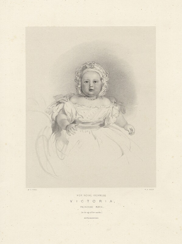 Victoria, Empress of Germany and Queen of Prussia, by Richard James Lane, printed by  M & N Hanhart, after  Sir William Charles Ross, 1841 - NPG D22113 - © National Portrait Gallery, London