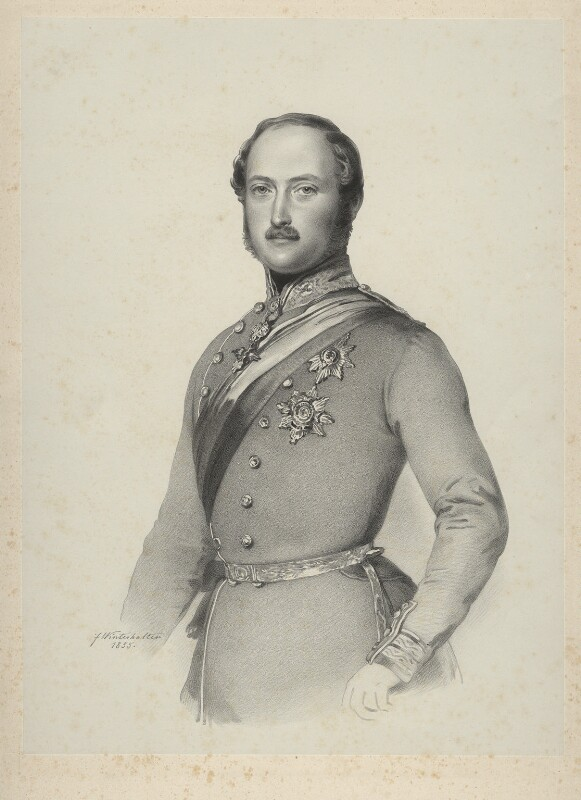 Prince Albert of Saxe-Coburg-Gotha, by Richard James Lane, published by  John Mitchell, after  Franz Xaver Winterhalter, published 1855 (1855) - NPG D22126 - © National Portrait Gallery, London
