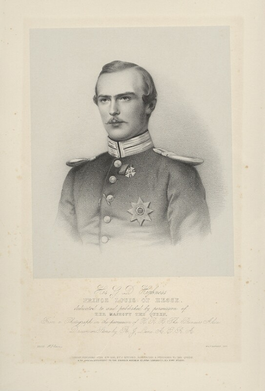 Louis IV, Grand Duke of Hesse and by Rhine, by Richard James Lane, printed by  M & N Hanhart, published by  John Mitchell, published 10 June 1861 - NPG D22132 - © National Portrait Gallery, London