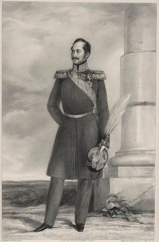 Nicholas I, Emperor of Russia, by Richard James Lane, printed by  Jérémie Graf, after  Christina Robertson (née Saunders), 1841 (1840) - NPG D22149 - © National Portrait Gallery, London