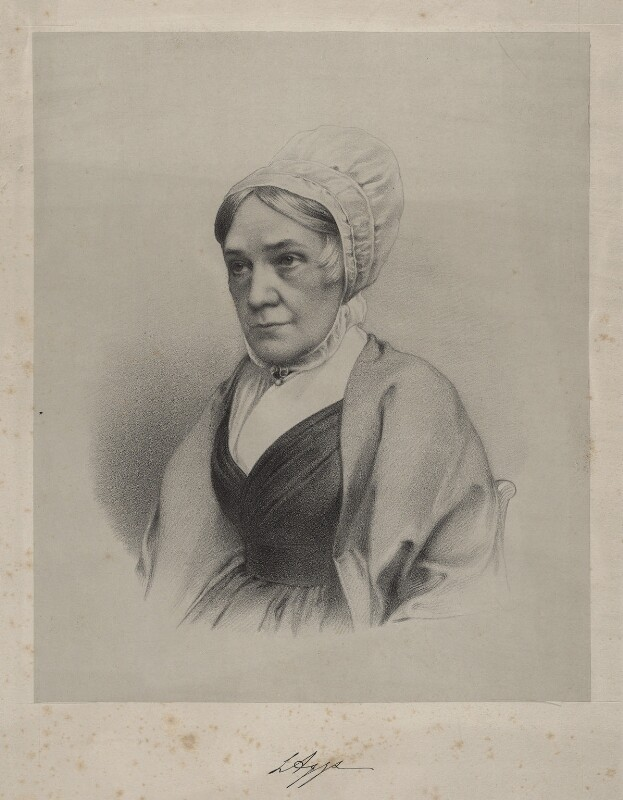 Lucy Aggs, by Richard James Lane, circa 1853 - NPG D22163 - © National Portrait Gallery, London