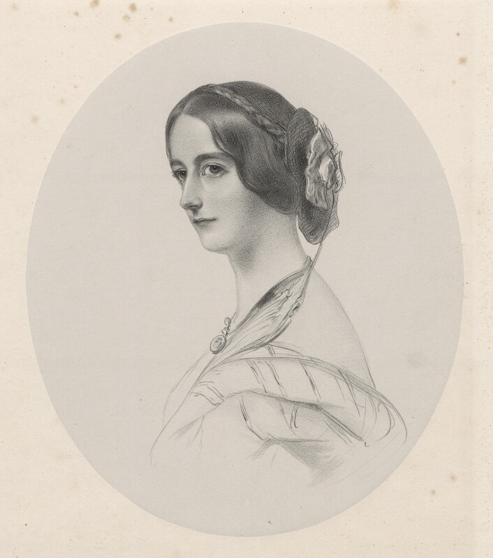Mary Caroline (née Herbert), Marchioness of Ailesbury, by Richard James Lane, 1849 - NPG D22166 - © National Portrait Gallery, London