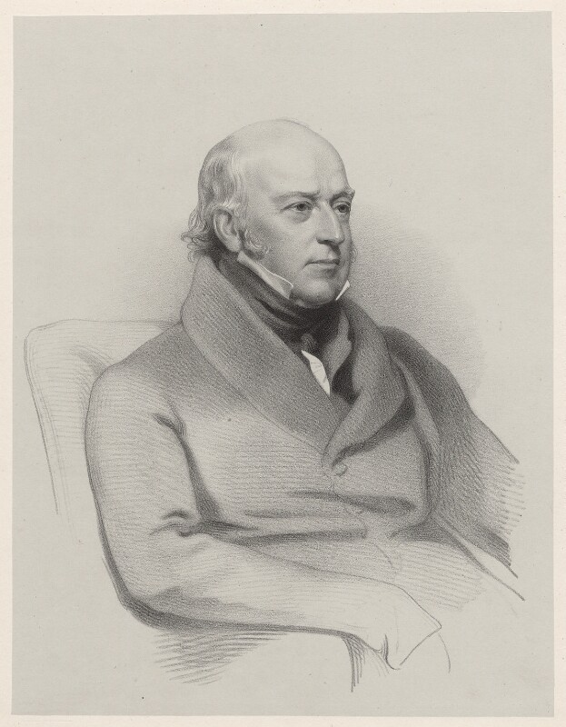 Sir Edward Codrington, by Richard James Lane, after  Henry Perronet Briggs, 1845 (1843) - NPG D22191 - © National Portrait Gallery, London