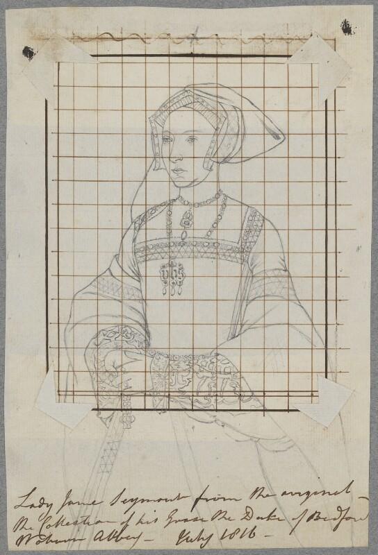 Jane Seymour, by Henry Bone, after  Unknown artist, July 1816 - NPG D17183 - © National Portrait Gallery, London