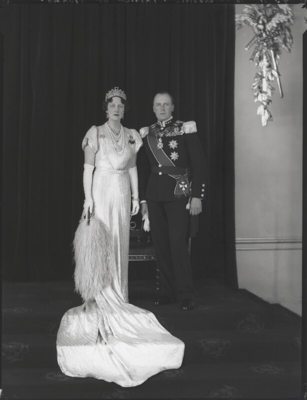 Princess Martha of Sweden; Olav V, King of Norway, by Hay Wrightson, 12 May 1937 - NPG x126943 - © National Portrait Gallery, London
