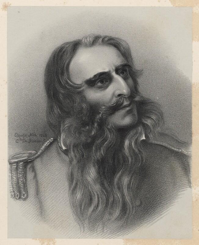 Sir Charles James Napier, by Richard James Lane, after  Comte Hippolyte Caïs de Pierlas, 1849 (1843) - NPG D22260 - © National Portrait Gallery, London