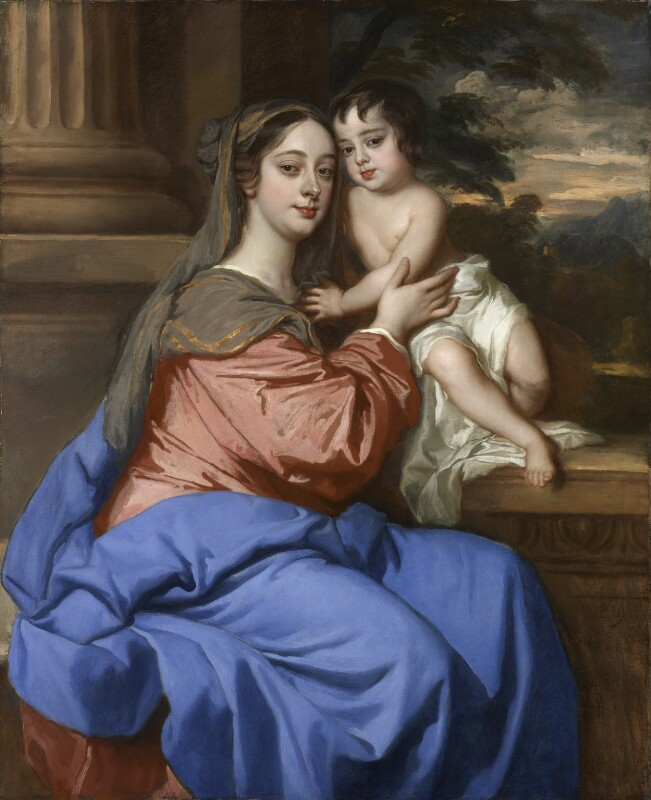 Barbara Palmer (née Villiers), Duchess of Cleveland with her son, probably Charles FitzRoy, as the Virgin and Child, by Sir Peter Lely, circa 1664 - NPG 6725 - © National Portrait Gallery, London