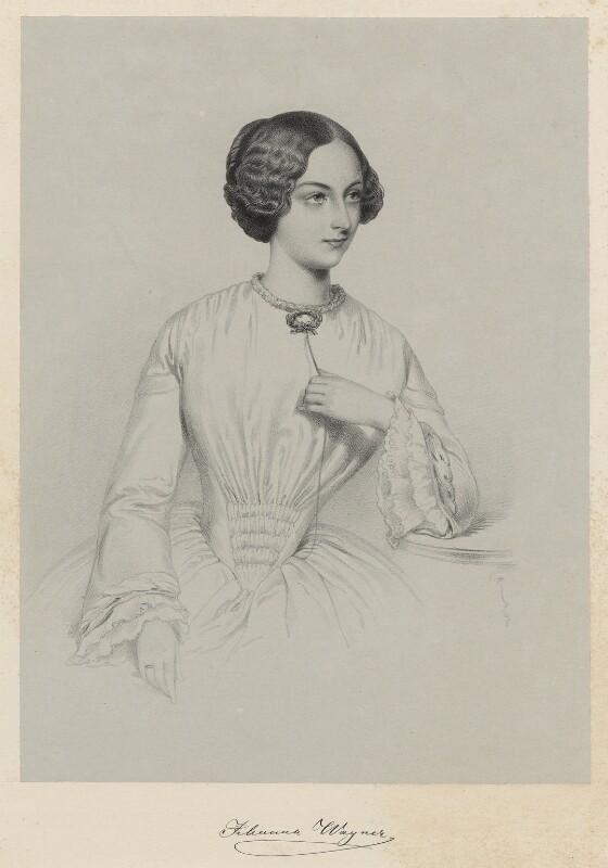 Johanna Jachmann-Wagner, by Richard James Lane, 1852 - NPG D22518 - © National Portrait Gallery, London