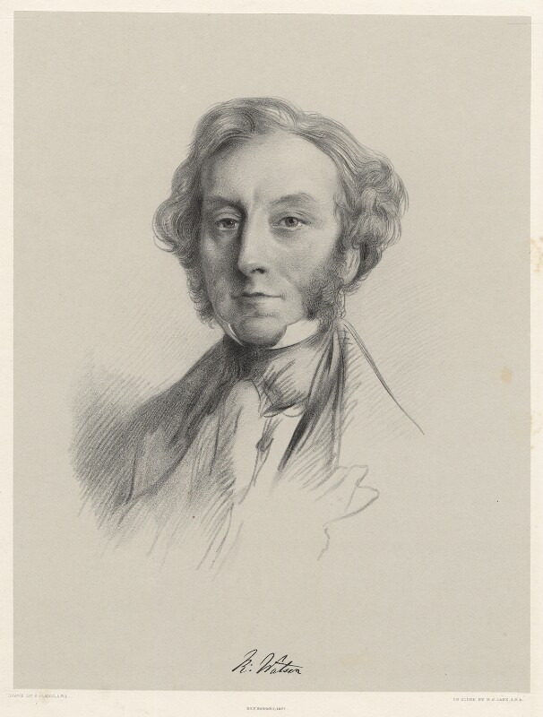 Richard Watson, by Richard James Lane, printed by  M & N Hanhart, after  E. Boxall, 1853 - NPG D22519 - © National Portrait Gallery, London