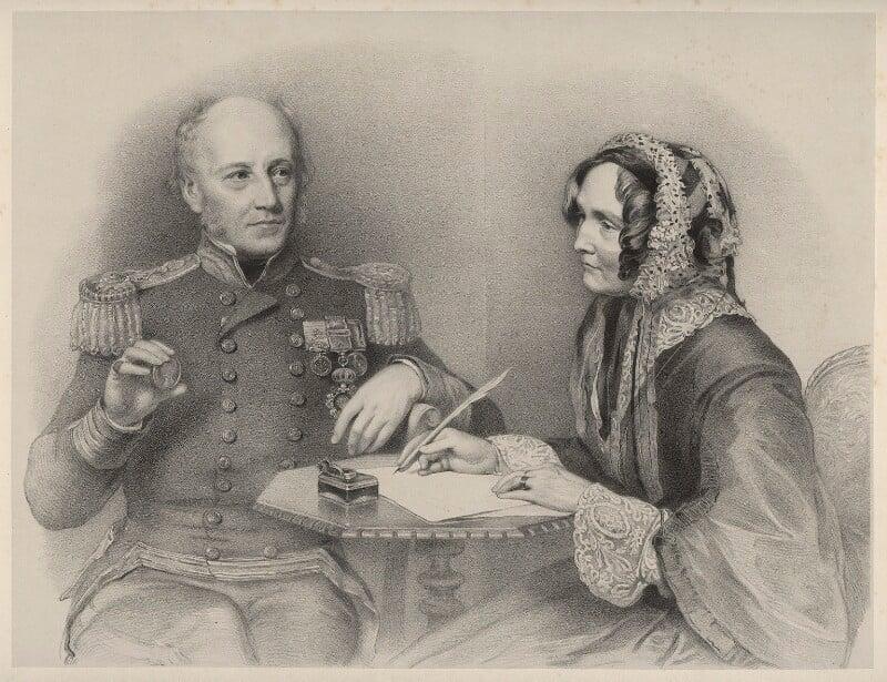 William Henry Smyth; Annarella Smyth (née Warington), by Richard James Lane, after  Eden Upton Eddis, circa 1825-1850 - NPG D22527 - © National Portrait Gallery, London