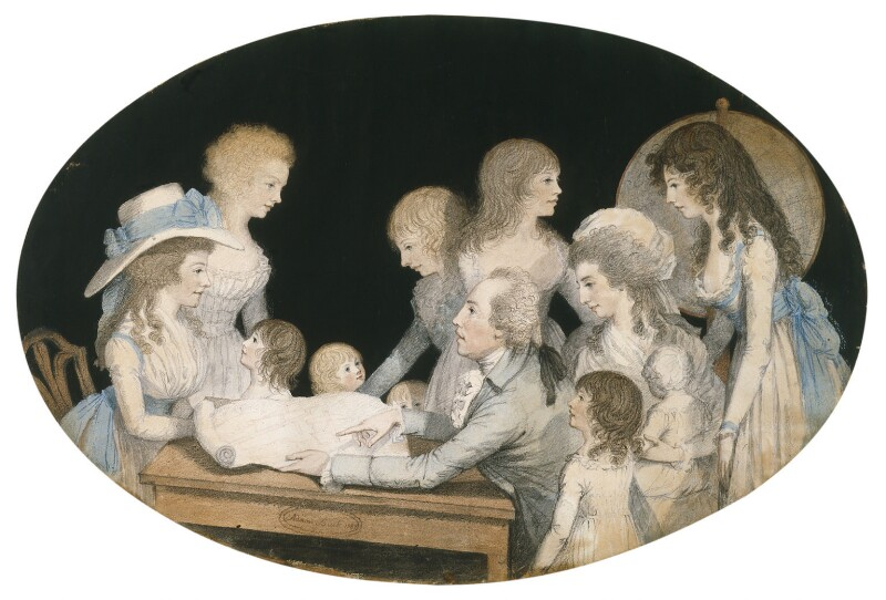 The Edgeworth Family, by Adam Buck, 1787 - NPG L236 - Estate of Michael Butler; photograph © National Portrait Gallery, London