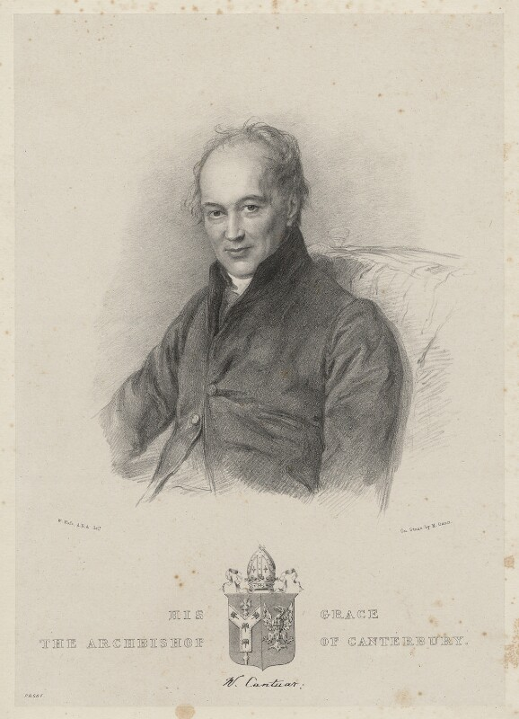 William Howley, by Maxim Gauci, after  Sir William Charles Ross, circa 1839 - NPG D22355 - © National Portrait Gallery, London