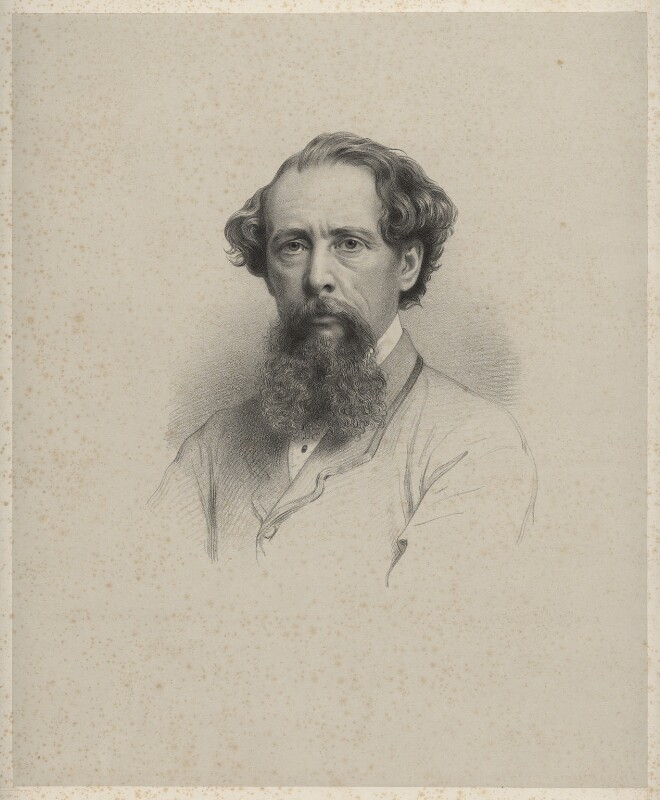 Charles Dickens, by Richard James Lane, after  John Watkins, 1861 - NPG D22373 - © National Portrait Gallery, London