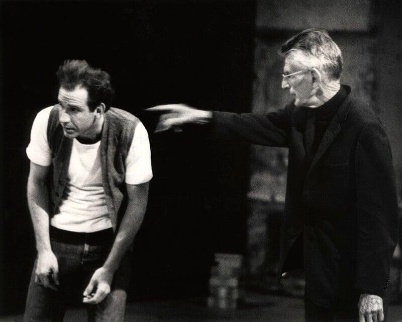 Samuel Beckett and an unknown man, by John Minihan, 1984 - NPG x29004 - © John Minihan / National Portrait Gallery, London