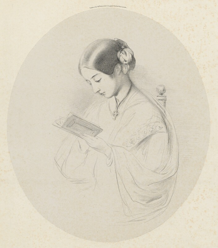 Florence Nightingale, by Richard James Lane, printed by  Day & Son, published by  Paul and Dominic Colnaghi & Co, after  Joanna Hilary Bonham Carter, after  John Pinches, published 28 November 1854 - NPG D22404 - © National Portrait Gallery, London
