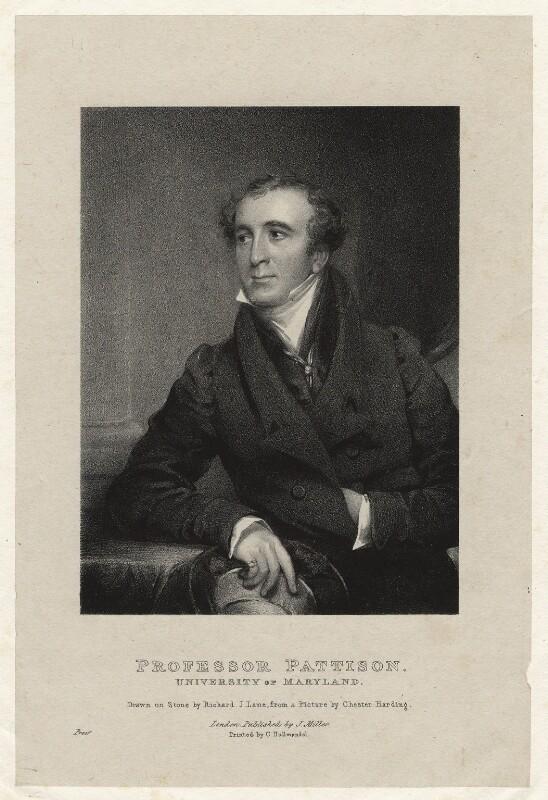 Granville Sharp Pattison, by Richard James Lane, printed by  Charles Joseph Hullmandel, published by  J. Miller, after  Chester Harding, 1826 - NPG D22406 - © National Portrait Gallery, London