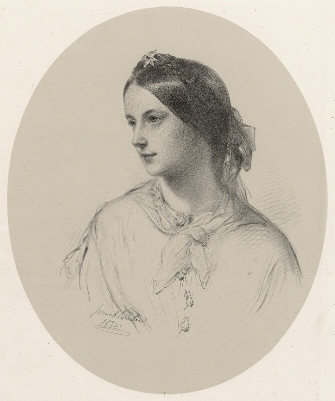Augusta Sturt (née Lady Bingham), Baroness Alington of Criche, by Richard James Lane, after  James Rannie Swinton, (1854) - NPG D22423 - © National Portrait Gallery, London