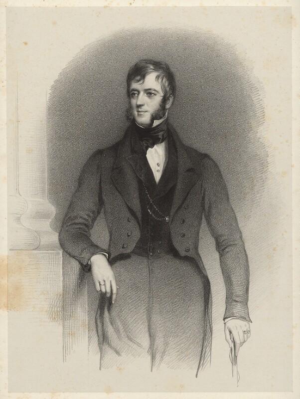 Robert John Carington (né Smith), 2nd Baron Carrington, by Richard James Lane, circa 1825-1850 - NPG D22435 - © National Portrait Gallery, London