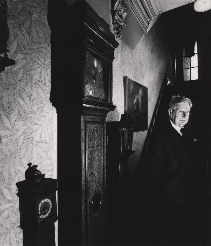L.S. Lowry, by Derry Moore, 12th Earl of Drogheda, 1975 - NPG x126964 - © Derry Moore