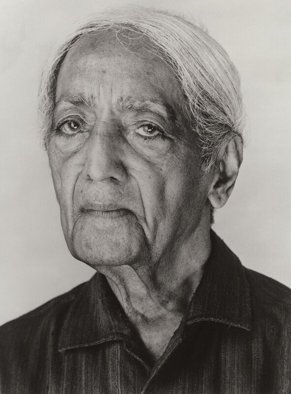Jiddu Krishnamurti, by Derry Moore, 12th Earl of Drogheda, 1985 - NPG x126975 - © Derry Moore