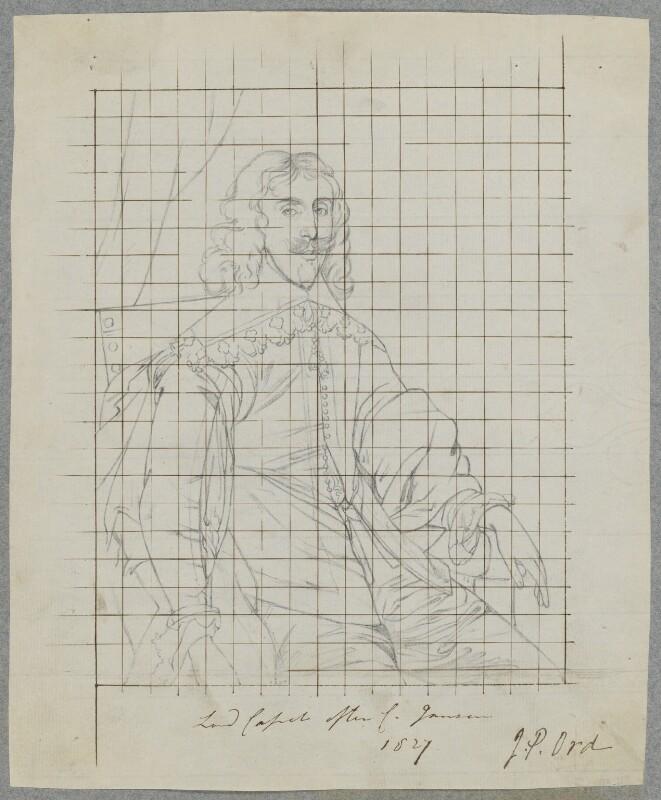 Arthur Capel, 1st Baron Capel, by Henry Bone, after  Cornelius Johnson, 1827 - NPG D17231 - © National Portrait Gallery, London