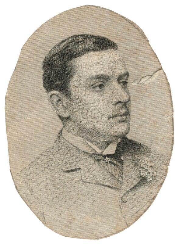 William Arthur Cavendish-Bentinck, 6th Duke of Portland, by Joseph Brown, after  John Jabez Edwin Mayall, 1880s - NPG D20554 - © National Portrait Gallery, London