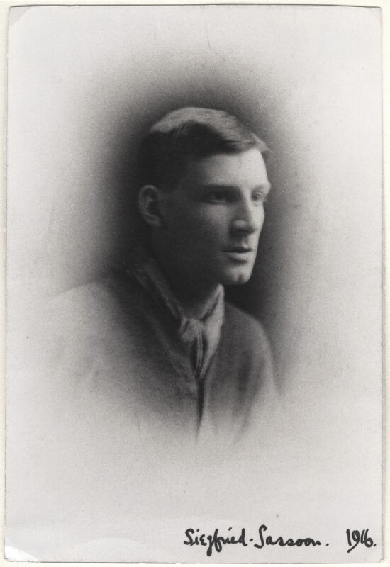 Siegfried Loraine Sassoon, by Unknown photographer, January 1916 - NPG x144195 - © National Portrait Gallery, London