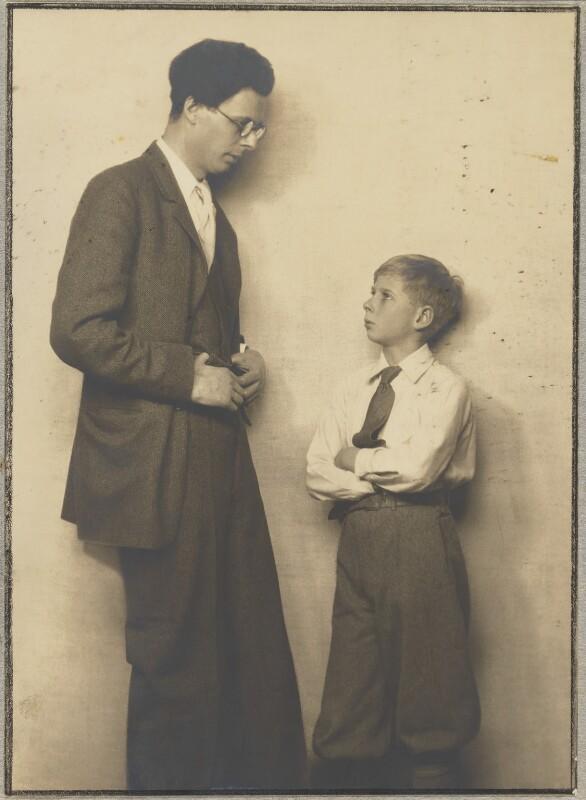 Aldous Huxley; Matthew Huxley, by Dorothy Wilding, 1932 - NPG x144198 - © William Hustler and Georgina Hustler / National Portrait Gallery, London