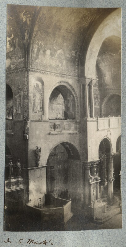 'In St Mark's', by Lady Ottoline Morrell, August-September 1908 - NPG Ax140049 - © National Portrait Gallery, London