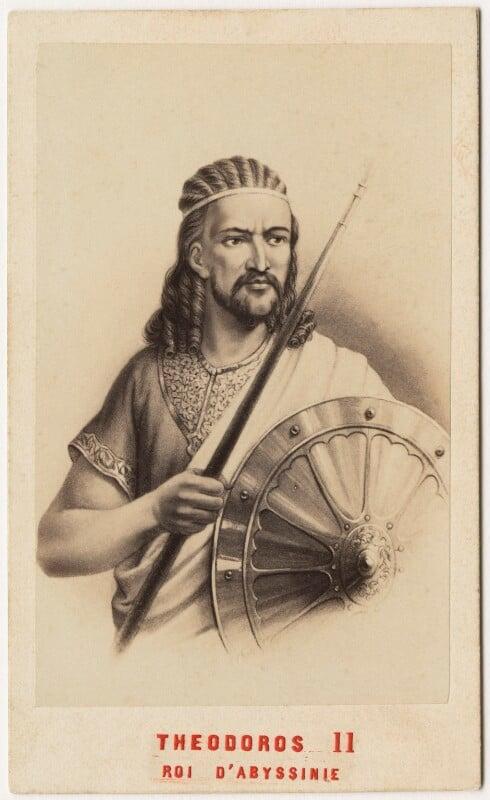 King Téwodros (Theodore) II of Abyssinia, by Neurdein, 1860s - NPG x127029 - © National Portrait Gallery, London