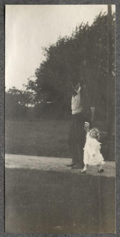 Philip Edward Morrell; Julian Vinogradoff (née Morrell), by Lady Ottoline Morrell, 1908 - NPG Ax140084 - © National Portrait Gallery, London